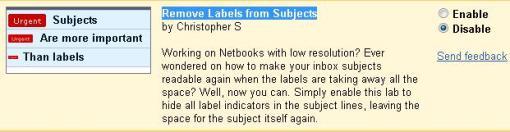 Gmail hide label