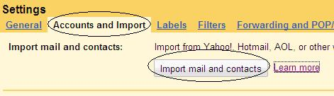 Import in Gmail