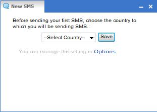 Yahoo SMS sel country